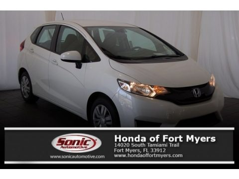 White Orchid Pearl 2017 Honda Fit LX