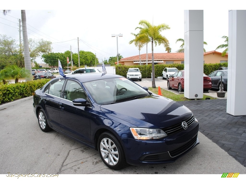 2013 Jetta SE Sedan - Tempest Blue Metallic / Cornsilk Beige photo #1