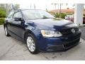 Volkswagen Jetta SE Sedan Tempest Blue Metallic photo #2