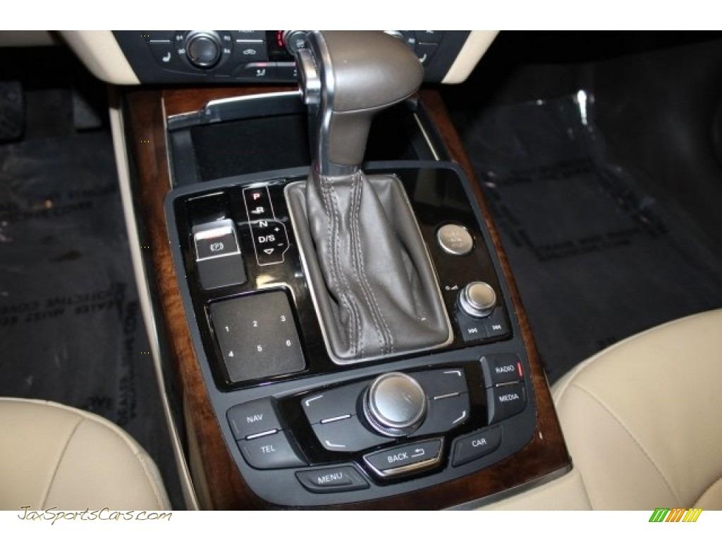2013 A7 3.0T quattro Premium Plus - Moonlight Blue Metallic / Nougat Brown photo #26