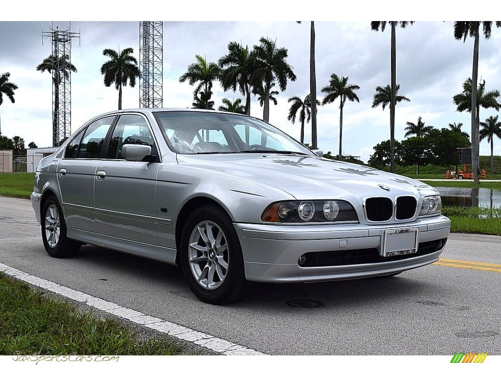 2003 5 Series 525i Sedan - Titanium Silver Metallic / Black photo #1