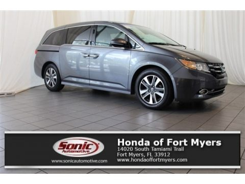 Modern Steel Metallic 2014 Honda Odyssey Touring Elite