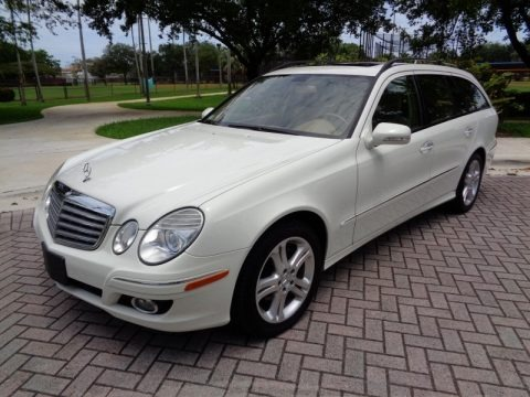 Arctic White 2007 Mercedes-Benz E 350 4Matic Wagon