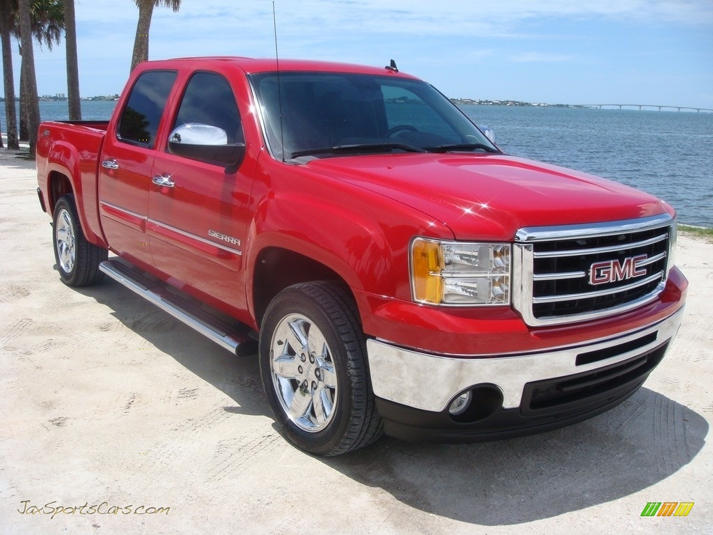 2012 Sierra 1500 SLE Crew Cab - Fire Red / Ebony photo #1