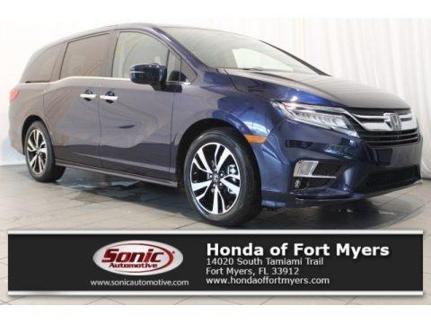 Obsidian Blue Pearl 2018 Honda Odyssey Elite