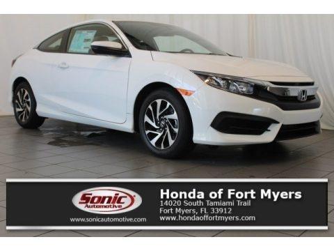 Taffeta White 2017 Honda Civic LX-P Coupe