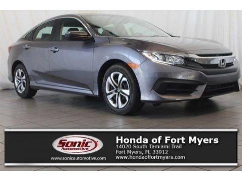 Modern Steel Metallic 2017 Honda Civic LX Sedan