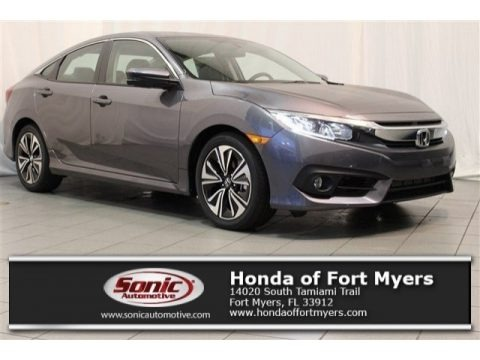 Polished Metal Metallic 2017 Honda Civic EX-T Sedan