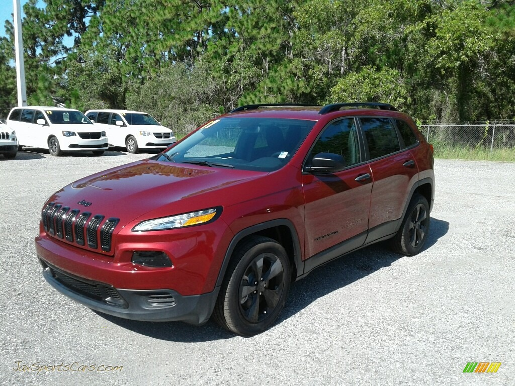 Deep Cherry Red Crystal Pearl / Black Jeep Cherokee Sport Altitude