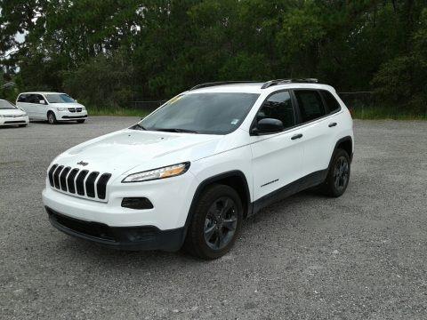 Bright White 2017 Jeep Cherokee Sport Altitude