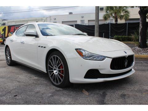 Bianco (White) 2017 Maserati Ghibli S Q4