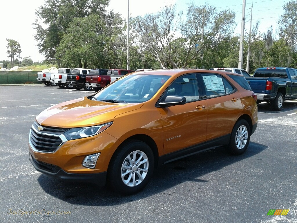 2018 Equinox LS - Orange Burst Metallic / Medium Ash Gray photo #1