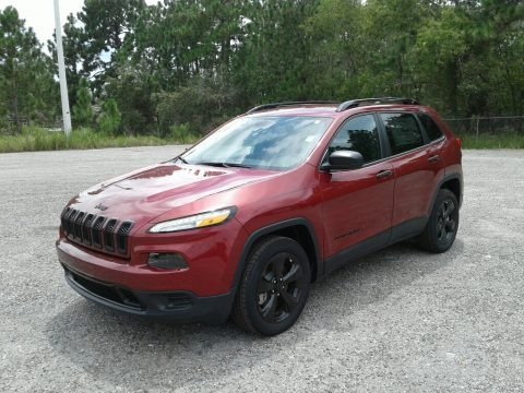Deep Cherry Red Crystal Pearl 2017 Jeep Cherokee Sport Altitude