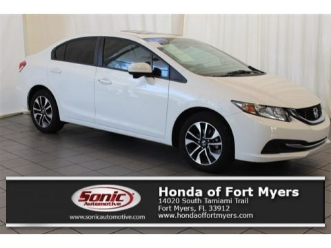 Taffeta White 2014 Honda Civic EX Sedan