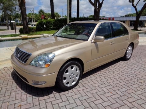 Mystic Gold Metallic 2003 Lexus LS 430 Sedan