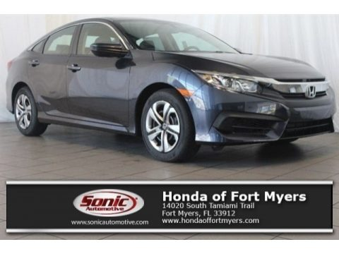 Cosmic Blue Metallic 2017 Honda Civic LX Sedan