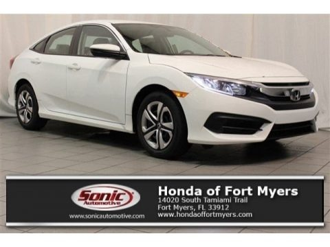 Taffeta White 2017 Honda Civic LX Sedan