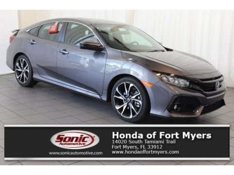 Modern Steel Metallic 2017 Honda Civic Si Sedan