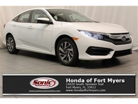 White Orchid Pearl 2017 Honda Civic EX Sedan