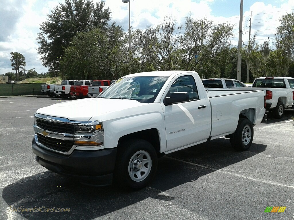Summit White / Dark Ash/Jet Black Chevrolet Silverado 1500 WT Regular Cab