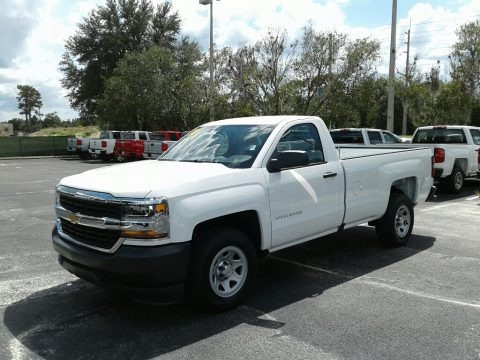 Summit White 2018 Chevrolet Silverado 1500 WT Regular Cab