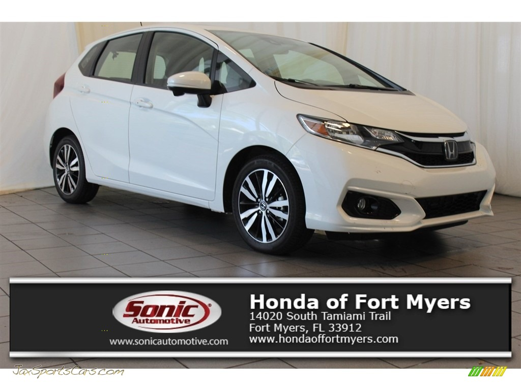 White Orchid Pearl / Black Honda Fit EX