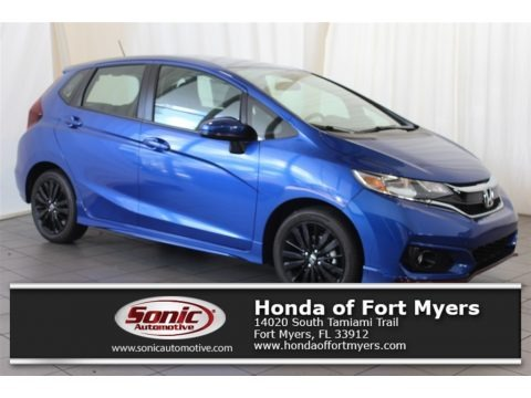 Aegean Blue Metallic 2018 Honda Fit Sport