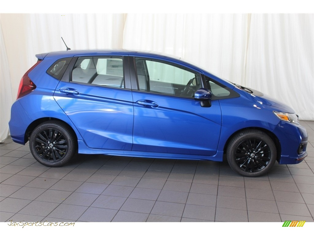 2018 Fit Sport - Aegean Blue Metallic / Black photo #3