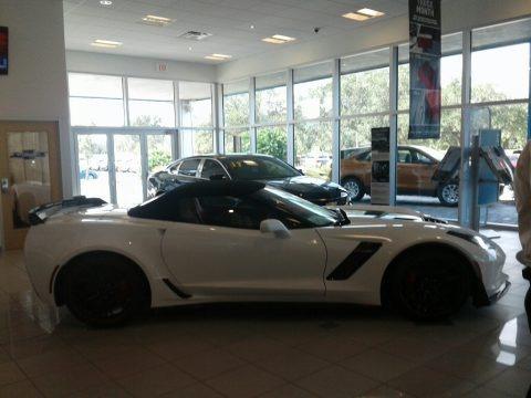 Arctic White 2018 Chevrolet Corvette Z06 Convertible