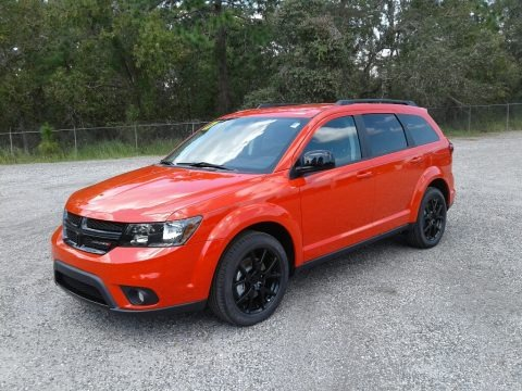 Blood Orange 2017 Dodge Journey SXT