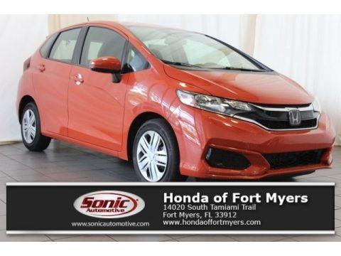 Orange Fury 2018 Honda Fit LX