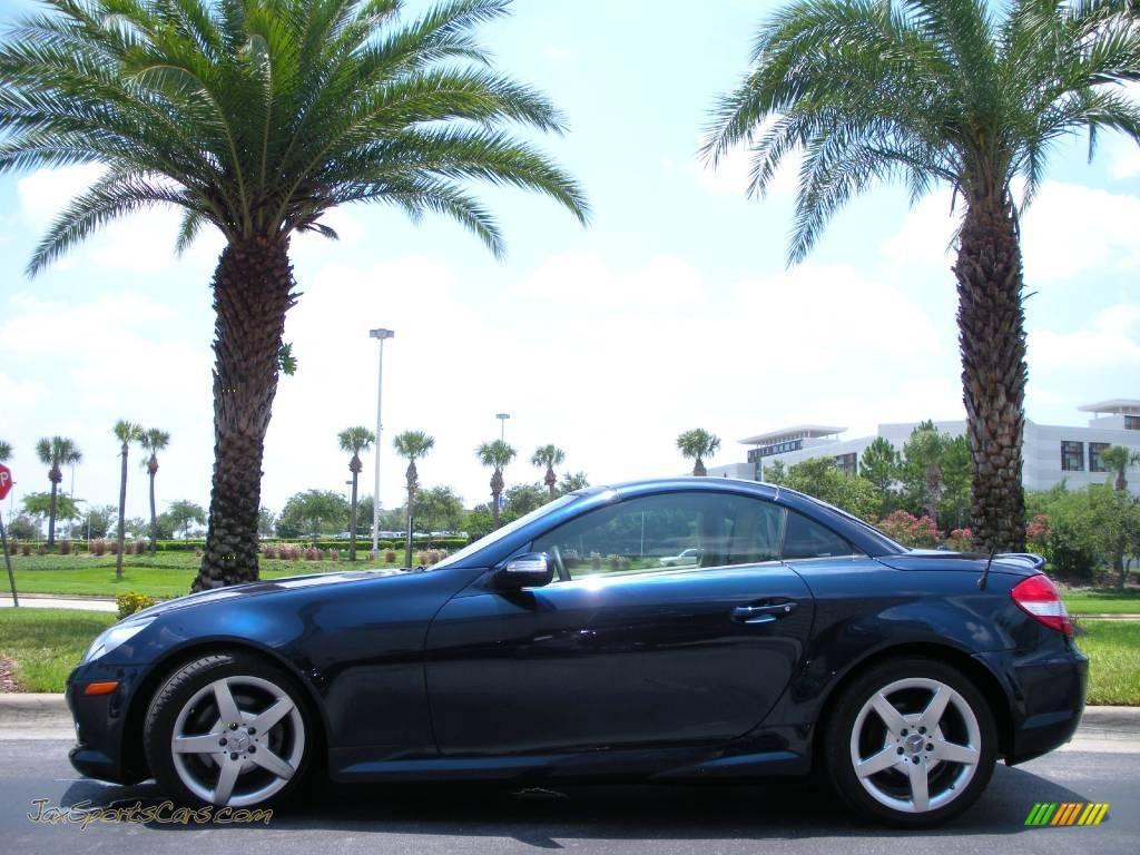 2007 mercedes benz slk 280 roadster in caspian blue metallic 148604 jax sports cars cars. Black Bedroom Furniture Sets. Home Design Ideas