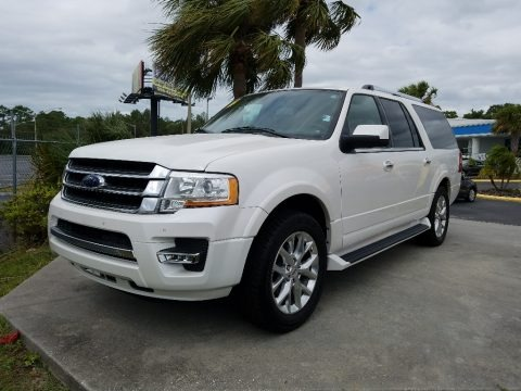 White Platinum Metallic Tricoat 2016 Ford Expedition EL Limited