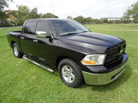 Brilliant Black Crystal Pearl 2010 Dodge Ram 1500 ST Crew Cab