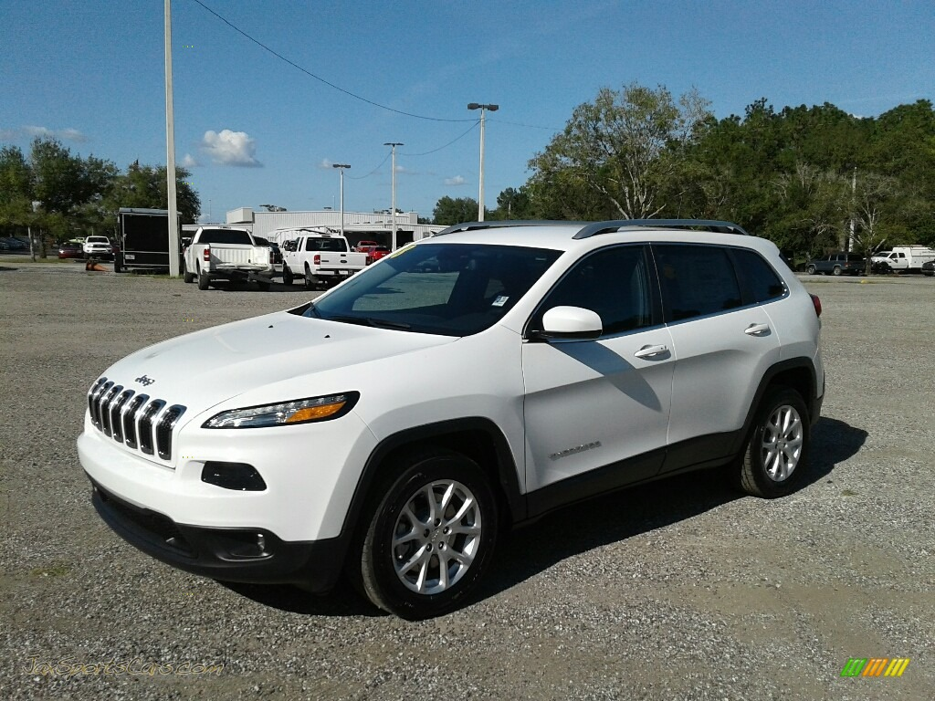 Bright White / Black Jeep Cherokee Latitude Plus