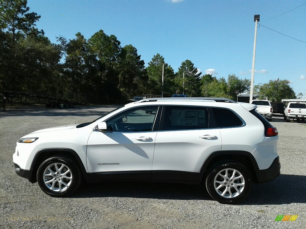 2018 Cherokee Latitude Plus - Bright White / Black photo #2