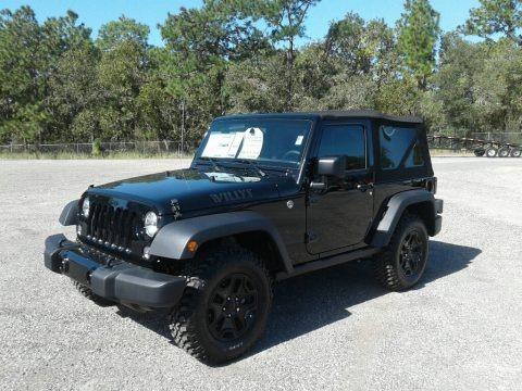 Black 2017 Jeep Wrangler Sport 4x4