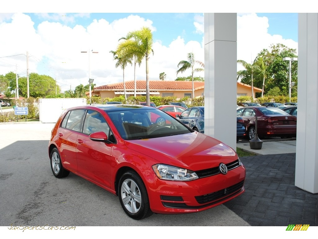 Tornado Red / Titan Black Volkswagen Golf 4 Door 1.8T Wolfsburg