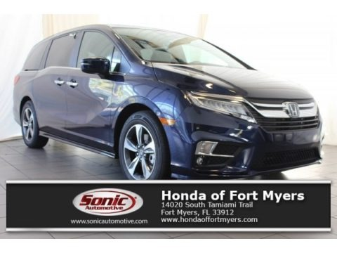 Obsidian Blue Pearl 2018 Honda Odyssey Touring