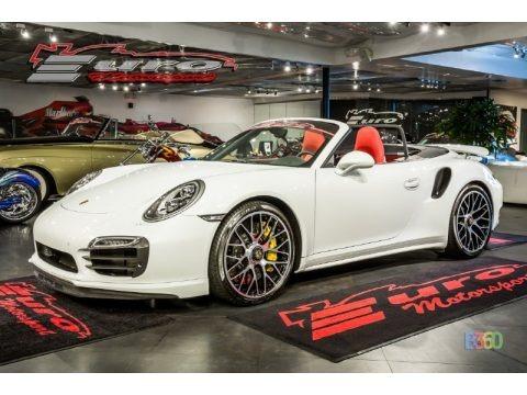 Carrara White Metallic 2015 Porsche 911 Turbo S Cabriolet