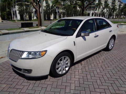 White Platinum Metallic Tri-Coat 2012 Lincoln MKZ FWD