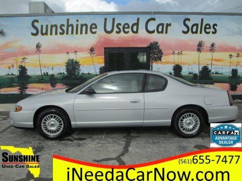 Galaxy Silver Metallic 2000 Chevrolet Monte Carlo LS