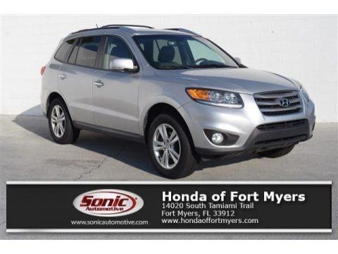 Moonstone Silver 2012 Hyundai Santa Fe Limited