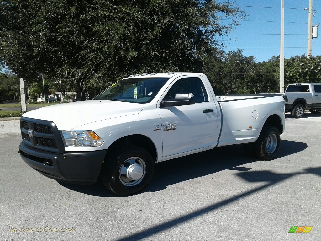 Bright White / Black/Diesel Gray Ram 3500 Tradesman Regular Cab Dual Rear Wheel