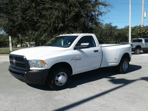 Bright White 2018 Ram 3500 Tradesman Regular Cab Dual Rear Wheel