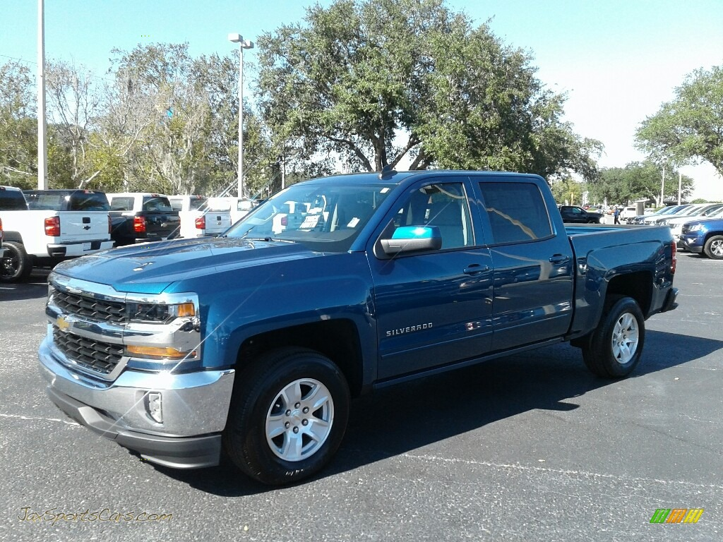 2018 Silverado 1500 LT Crew Cab - Deep Ocean Blue Metallic / Dark Ash/Jet Black photo #1