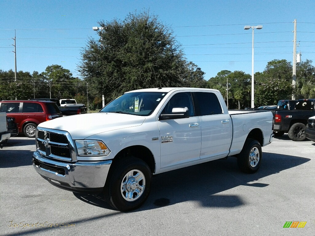 2018 2500 SLT Crew Cab 4x4 - Bright White / Black/Diesel Gray photo #1