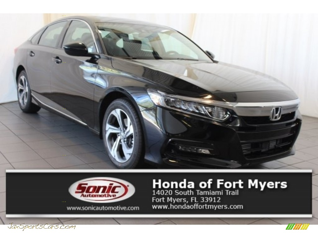 Crystal Black Pearl / Black Honda Accord EX Sedan