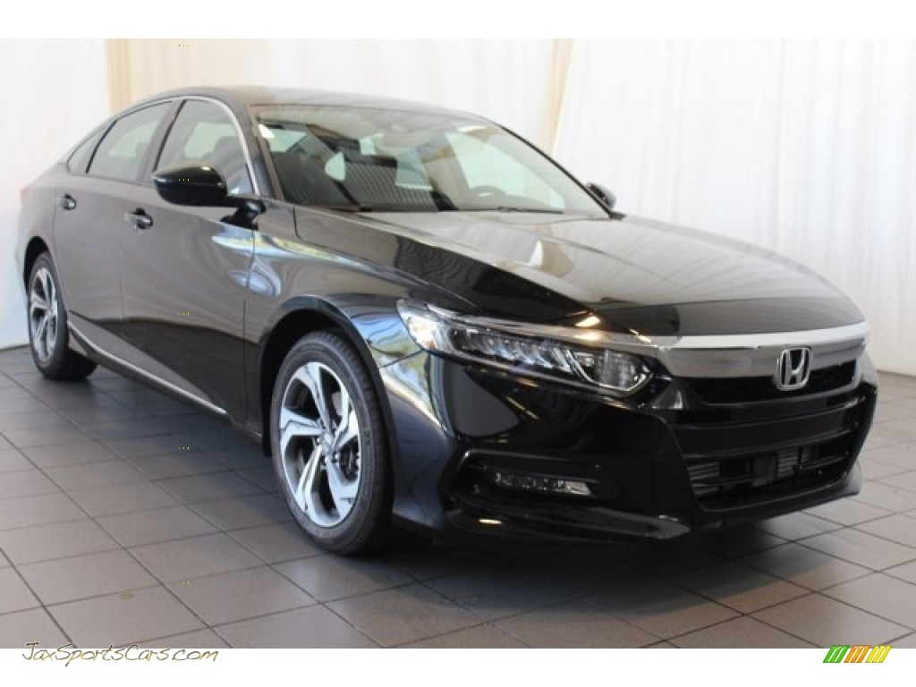 2018 Accord EX Sedan - Crystal Black Pearl / Black photo #2