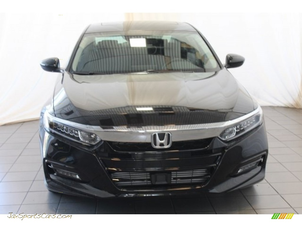 2018 Accord EX Sedan - Crystal Black Pearl / Black photo #4
